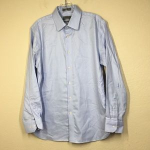 John Nordstrom Trim Fit No-Iron Check Dress Shirt